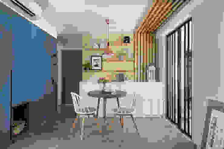 Scandinavian style dining room by 知域設計 Scandinavian