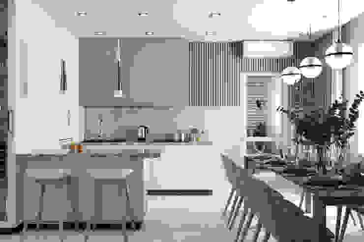 Золотистый бульвар DESHOUSE INTERIORS Встроенные кухни