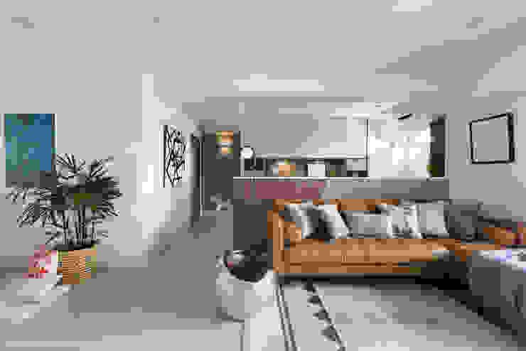 義‧初心 现代客厅設計點子、靈感 & 圖片 根據 知域設計 現代風