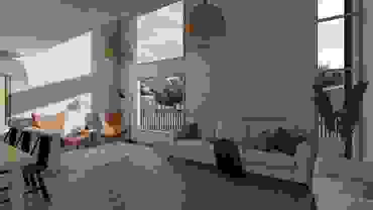 Casa SA Salas multimedia de estilo moderno de Soc. Constructora Cavent Spa Moderno