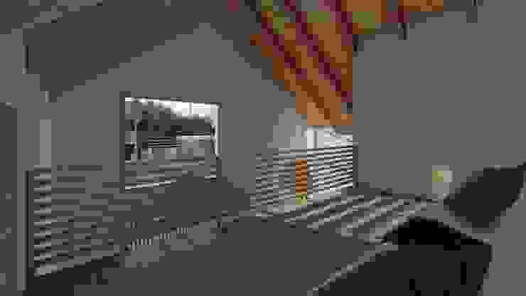 Casa SA Dormitorios de estilo moderno de Soc. Constructora Cavent Spa Moderno