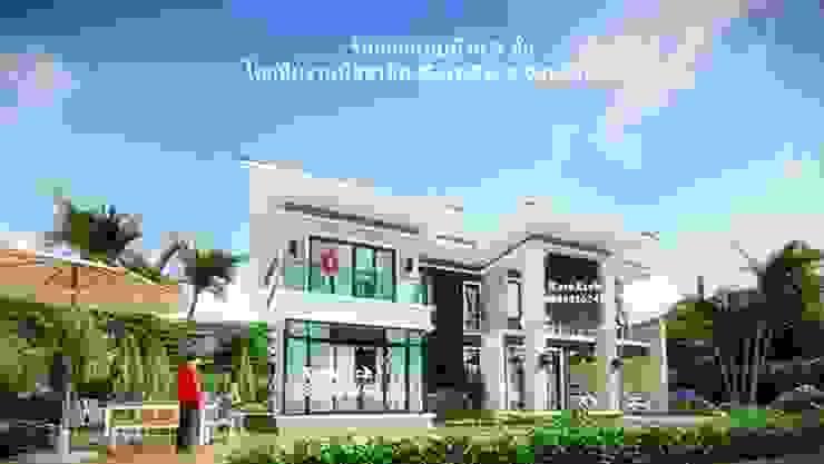 รับออกแบบบ้าน2ชั้น โดยทีมงานมืออาชีพ โดย กรอาร์ช ดีไซน์ / KornArch Design โมเดิร์น คอนกรีต