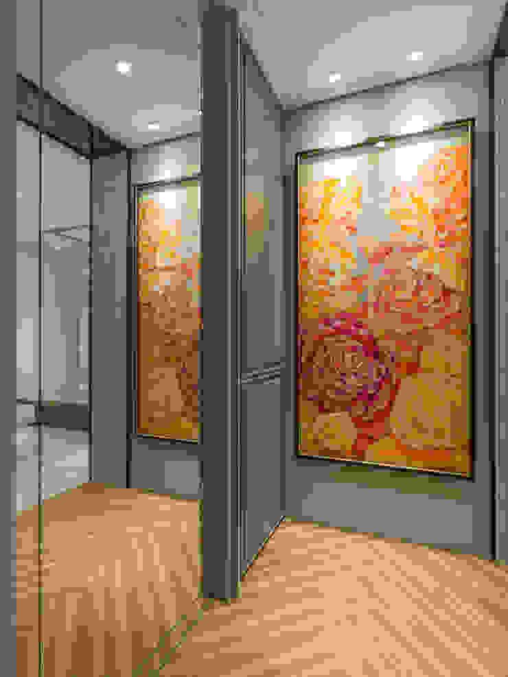 玄關端景 經典風格的走廊,走廊和樓梯 根據 你你空間設計 古典風 複合木地板 Transparent