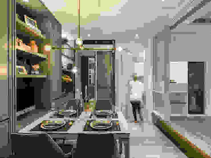 客餐廳 根據 你你空間設計 古典風 塑木複合材料