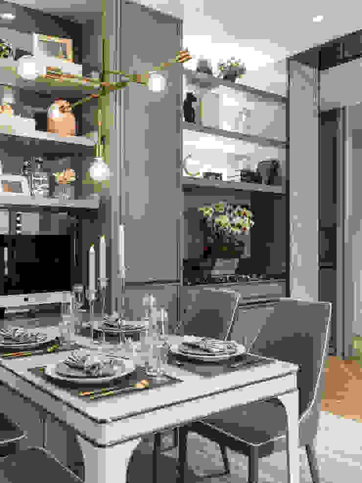 2房打造高機能 精緻收納美式新古典小宅 根據 你你空間設計 古典風 塑木複合材料