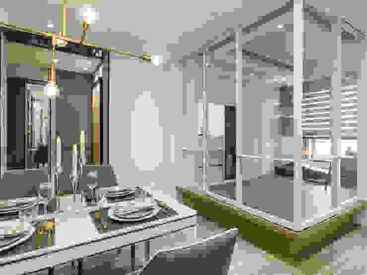 2房打造高機能 精緻收納美式新古典小宅 根據 你你空間設計 古典風 玻璃