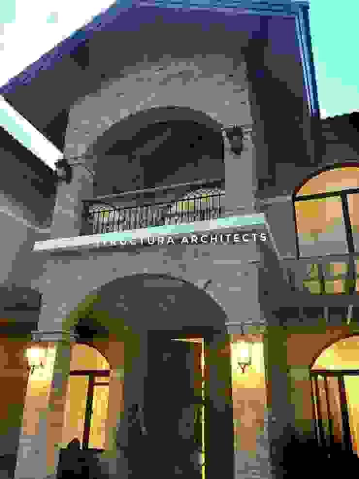 View of Main Door Structura Architects Mediterranean style gym Bricks Brown