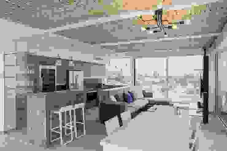 Reforma integral de vivienda exclusiva Bilbaodiseño Cocinas de estilo moderno