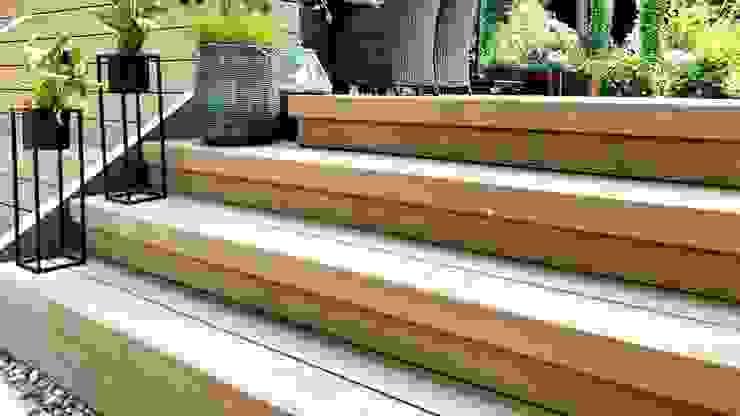 WPC-Treppe von KHG Raumdesign - Innenarchitektin in Berlin und Umland, mgr. ing. Architektur Katharina Hajduk-Gast Modern Holz-Kunststoff-Verbund