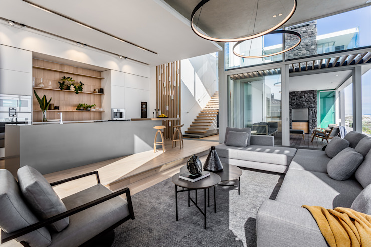 GSQUARED architects Minimalist living room