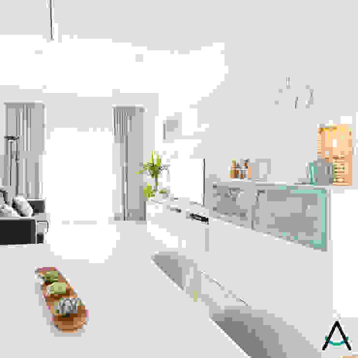 Modern Yemek Odası Estudi Aura, decoradores y diseñadores de interiores en Barcelona Modern