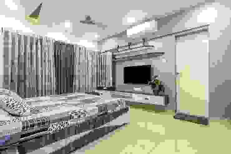 2bhk, F Residencies Modern style bedroom by AARAYISHH Modern