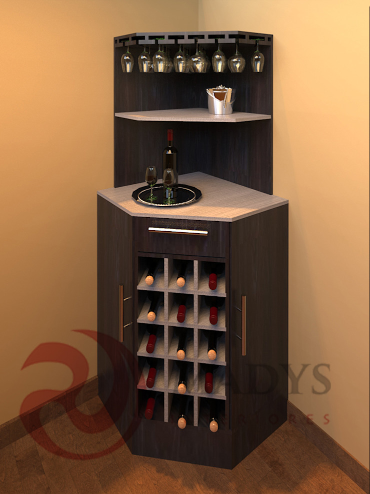 MADYS INTERIORES Modern wine cellar Multicolored
