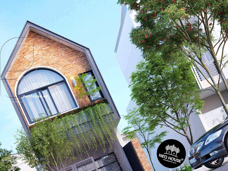 Mẫu thiết kế nhà phố 4m theo phong cách hiện đại độc đáo bởi NEOHouse