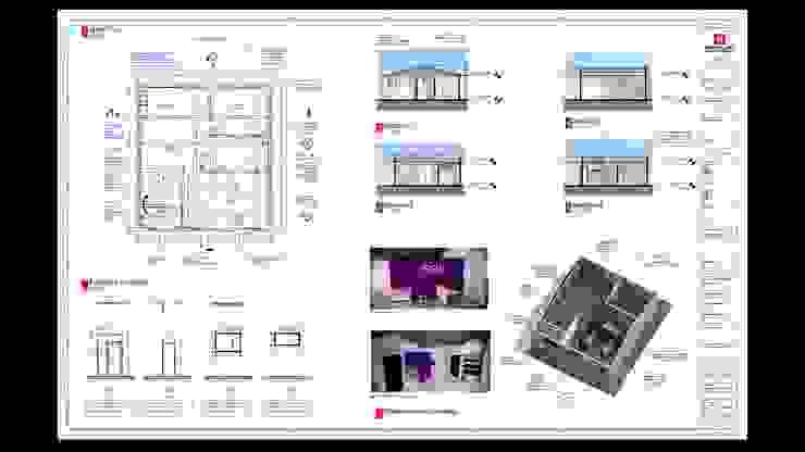 Levantamiento Arq. y diseño de la remodelación en Revit EHG arquitectura y construcción Espacios comerciales