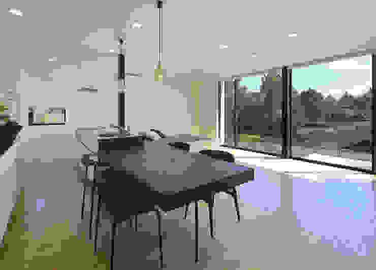 霧島の住宅 アトリエ環 建築設計事務所 モダンデザインの ダイニング