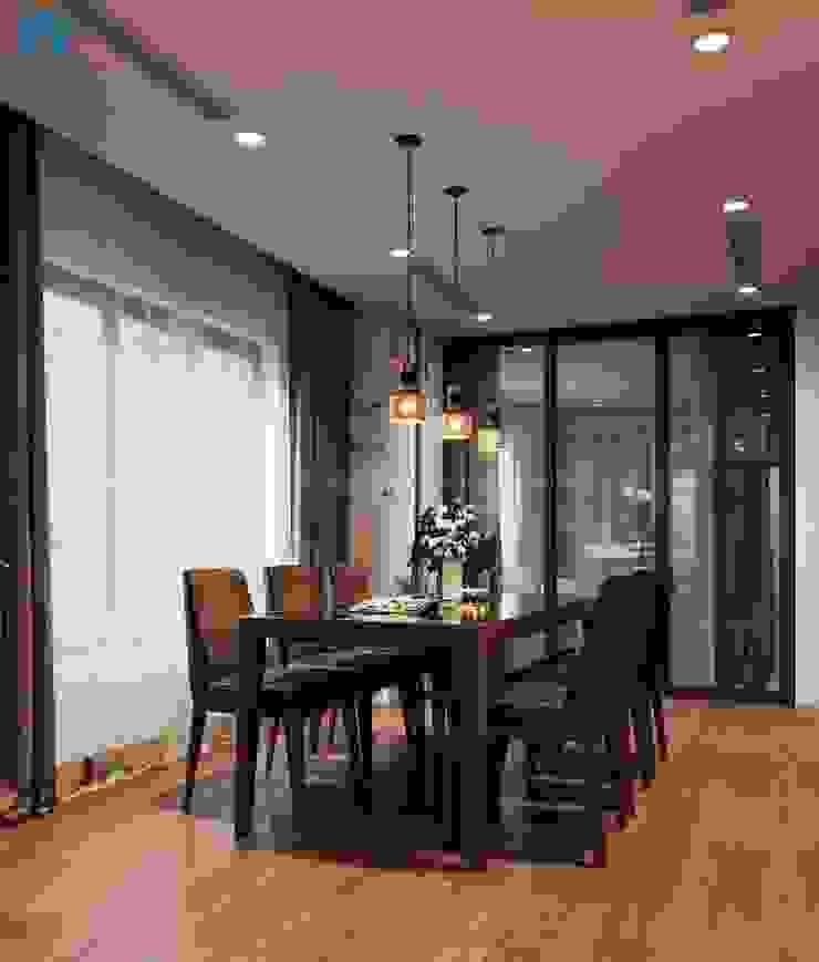 Bí quyết để tạo nên sự sang trọng cho không gian phòng ăn đó chính là sử dụng đèn trang trí Phòng ăn phong cách hiện đại bởi Công ty TNHH Nội Thất Mạnh Hệ Hiện đại Gỗ thiết kế Transparent