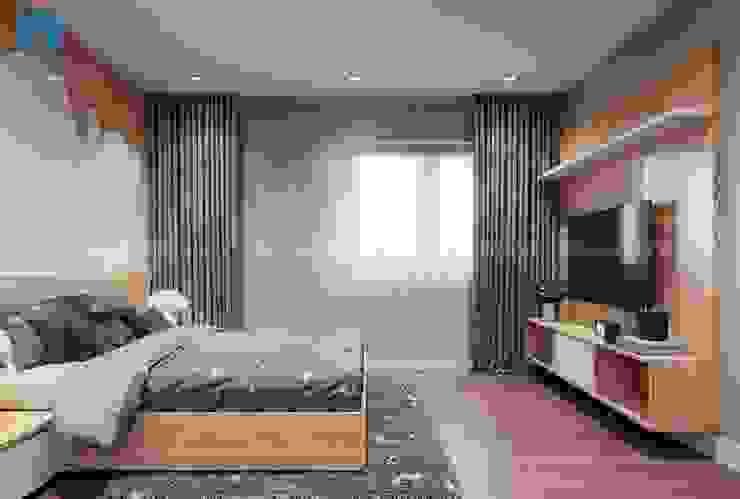 Bộ ga giường có hình ngôi sao vui nhộn làm cho căn phòng bớt đơn điệu bởi Công ty TNHH Nội Thất Mạnh Hệ Hiện đại Gỗ thiết kế Transparent