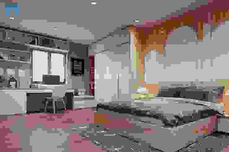 Những góc nhỏ trong phòng được đầu tư và chăm chút nhất có thể bởi Công ty TNHH Nội Thất Mạnh Hệ Hiện đại Gạch ốp lát