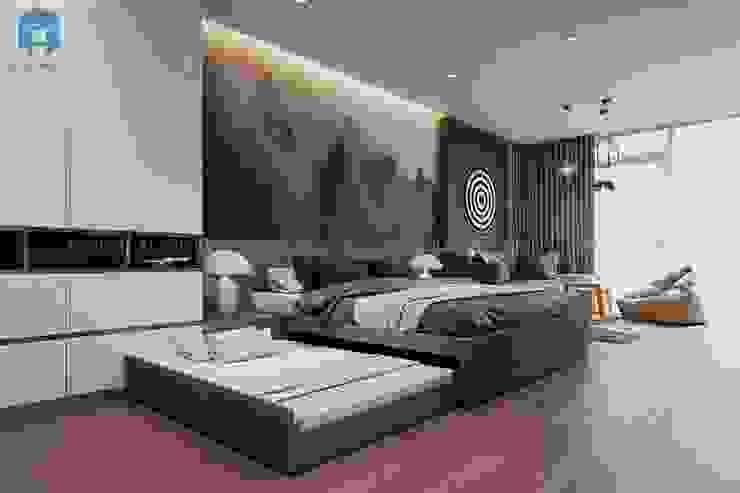 Một không gian ấm áp ngọt ngào nhờ đồ nội thất bằng gỗ bởi Công ty TNHH Nội Thất Mạnh Hệ Hiện đại Gạch ốp lát