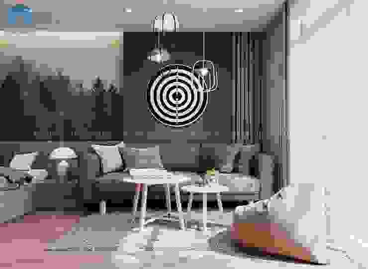Góc nghỉ ngơi thư giãn ngay trong phòng ngủ bởi Công ty TNHH Nội Thất Mạnh Hệ Hiện đại Gỗ thiết kế Transparent