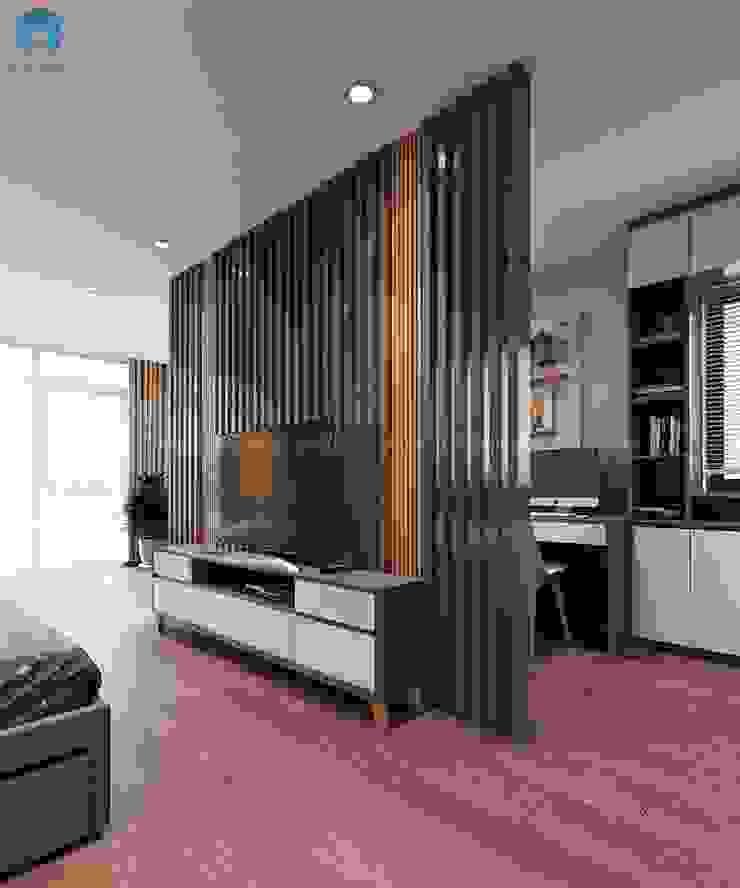 Vách ngăn bằng gỗ đang được ưa chuộng nhất hiện nay bởi Công ty TNHH Nội Thất Mạnh Hệ Hiện đại Gỗ thiết kế Transparent