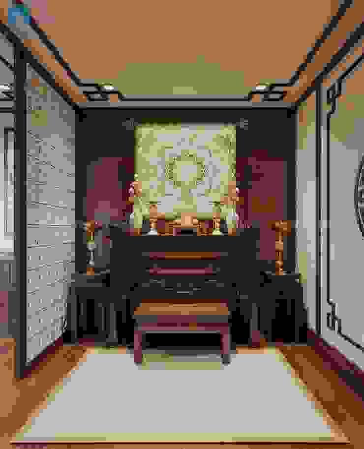 Không gian thờ trang trọng bởi Công ty TNHH Nội Thất Mạnh Hệ Hiện đại Gỗ Wood effect