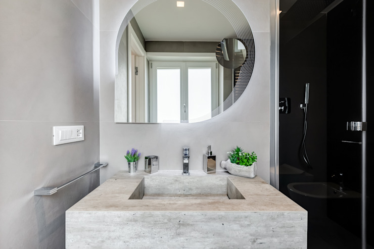 TOWER HOUSE Bagno in stile scandinavo di EF_Archidesign Scandinavo