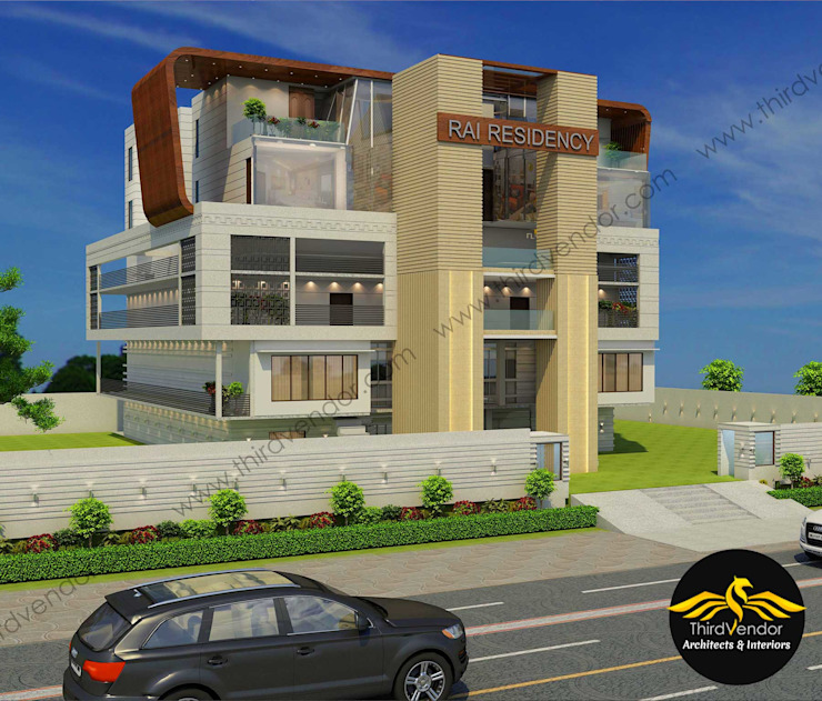 House in Allahabad- U.P by ThirdVendor - Architects Modern Bricks