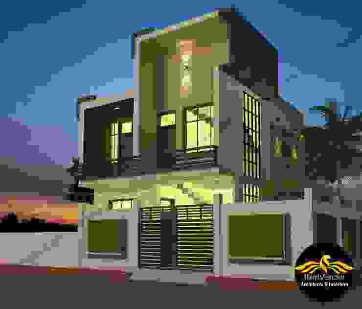 Small Villa size - 1302 sqft by ThirdVendor - Architects Asian Bricks