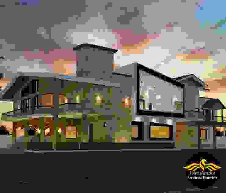 House at Bahraich - U.P by ThirdVendor - Architects Classic Stone