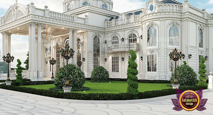 Exterior Design for a Beautiful House by Luxury Antonovich Design