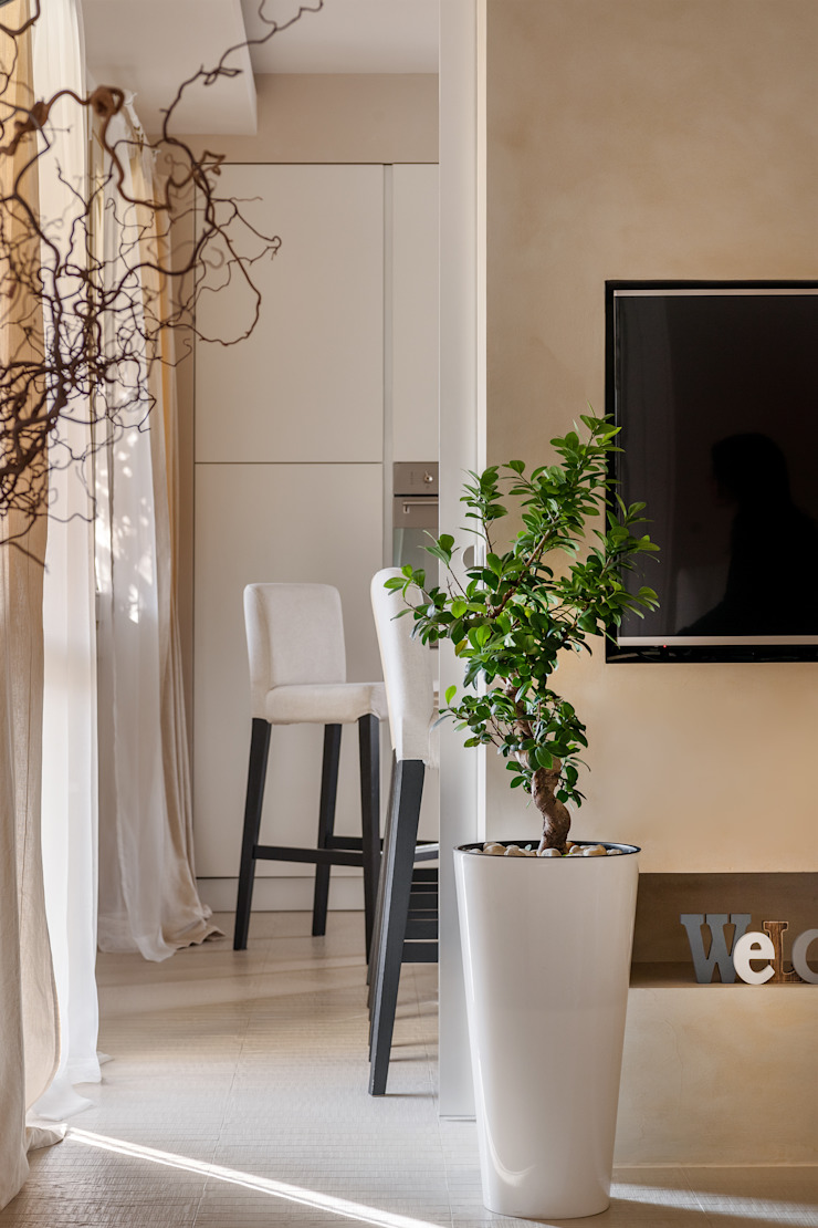 Appartamento privato a Bergamo Soggiorno moderno di Resin srl Moderno
