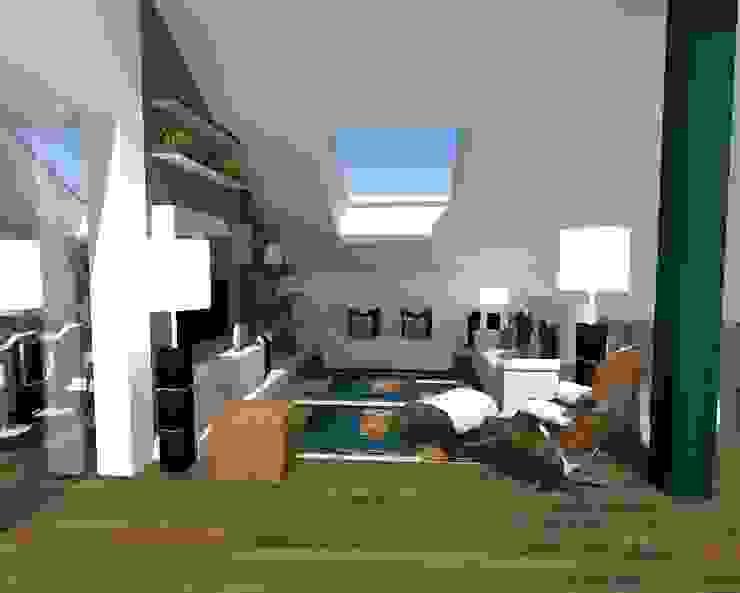 Salotto in mansarda Angela Archinà Progettazione & Interior Design Soggiorno moderno