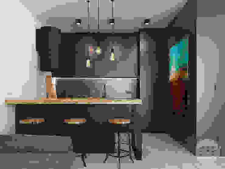 365 Stopni Kitchen units Solid Wood Black