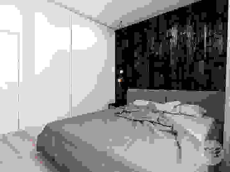 365 Stopni Minimalist bedroom Black