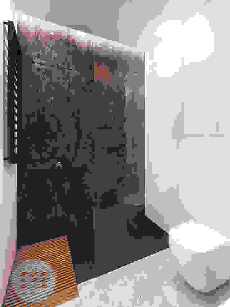 365 Stopni Minimalist style bathrooms Black