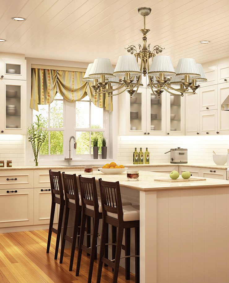 Classic luxury chandelier for kitchen island with decor and patina finishes 根據 Luxury Chandelier 古典風 銅/青銅/黃銅