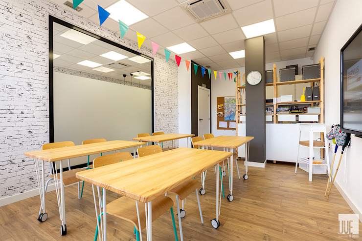 스칸디나비아 스타일 학교 by UVE laboratorio de diseño 북유럽