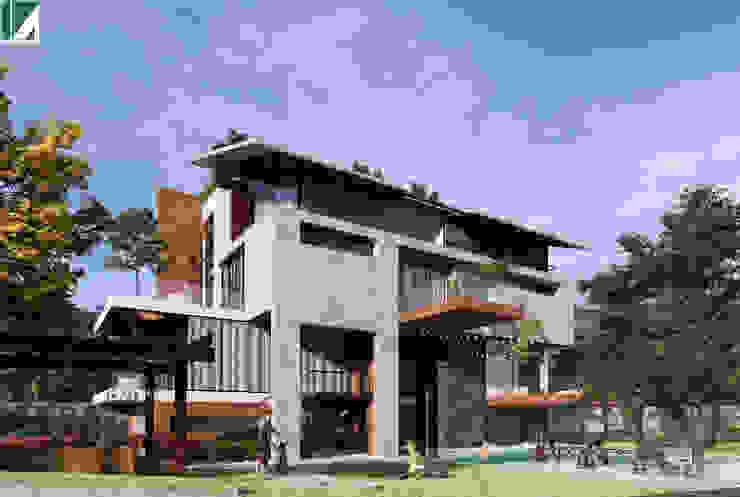 BIỆT THỰ 4 TẦNG – KIẾN TRÚC XANH – HẢI PHÒNG bởi Kiến trúc Việt Xanh