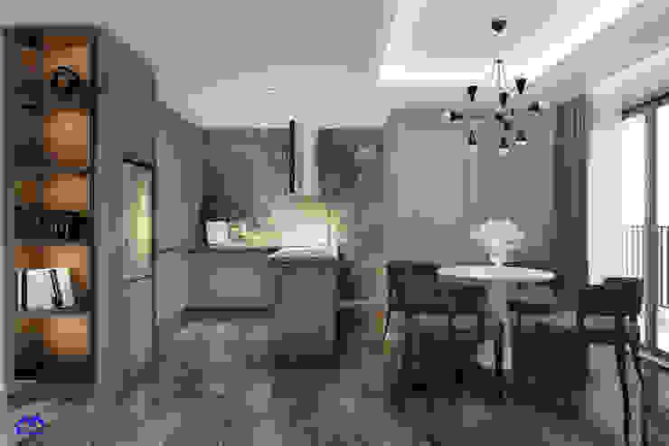 thiết kế nội thất phòng bếp bởi Nội Thất Đại Tứ Phát