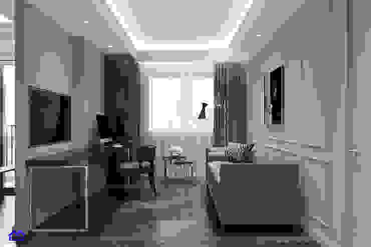 thiết kế nội thất phòng khách bởi Nội Thất Đại Tứ Phát