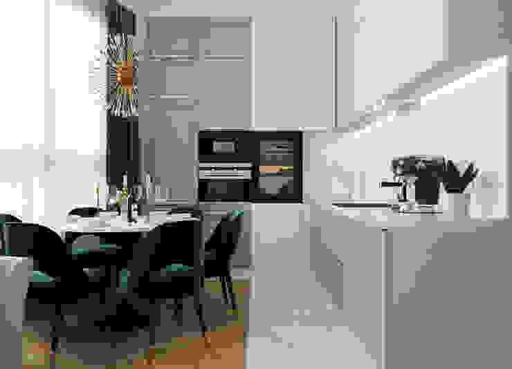 ЖК Сердце Столицы Кухни в эклектичном стиле от NaMaxDesign Эклектичный Мрамор