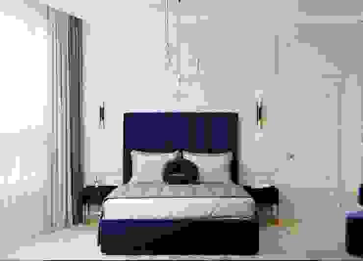 ЖК Сердце Столицы Спальня в эклектичном стиле от NaMaxDesign Эклектичный