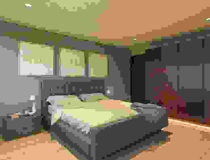 Recámara Dormitorios modernos de HH ARQUITECTOS Moderno
