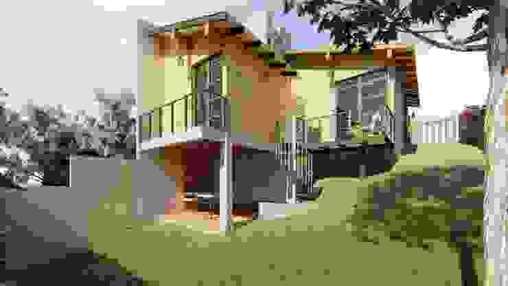 Cabaña Ecológica J.A.R. de ELH Studio Arquitectura Moderno Concreto
