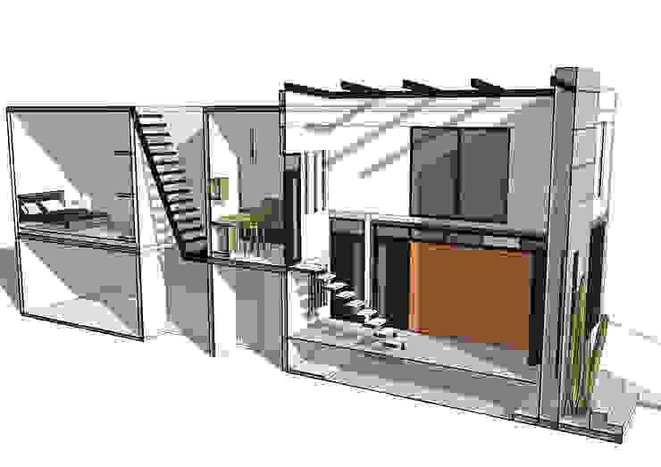 Render interior de MIDA Minimalista Concreto