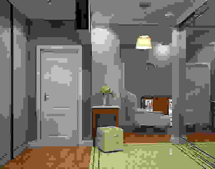 Classic style corridor, hallway and stairs by STUDIO DESIGN КРАСНЫЙ НОСОРОГ Classic