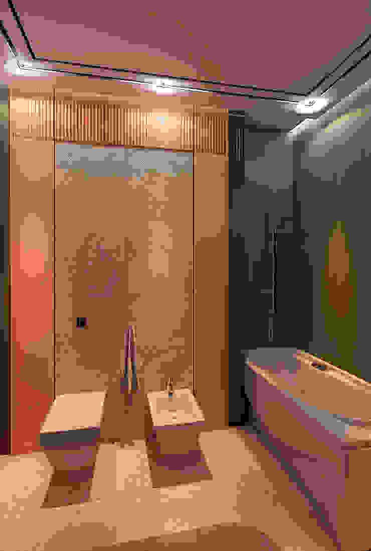 Minimalist style bathroom by STUDIO DESIGN КРАСНЫЙ НОСОРОГ Minimalist Ceramic