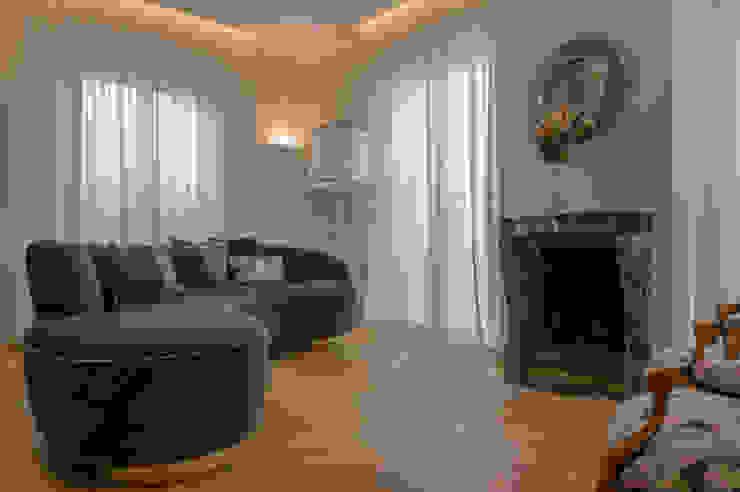 Archifacturing Salas de estilo ecléctico Verde